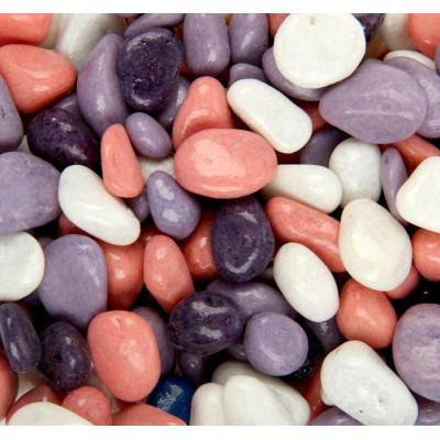 Декоративная галька сиреневая-белая-розовая-фиолетовая 5-10 мм (5-12 шт.)